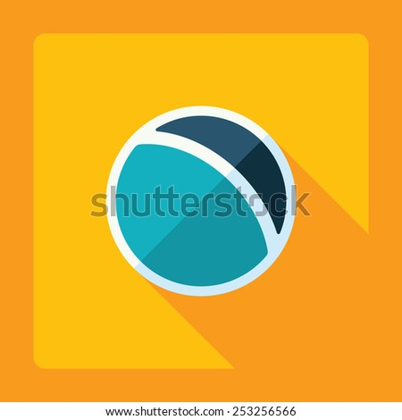 Flat modern design with shadow ball - stock vector
