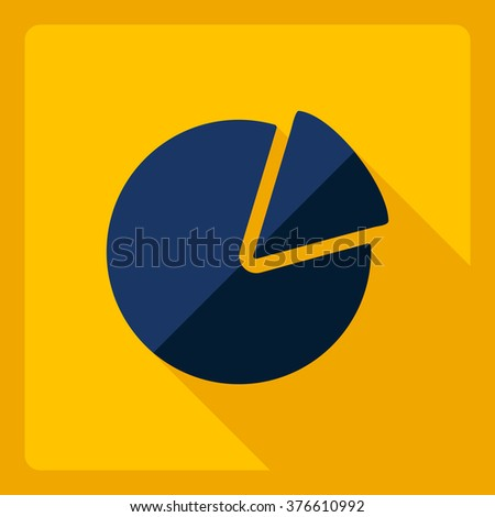 Flat modern design with shadow  Icon chart - stock vector