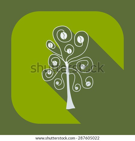 Flat modern design with shadow icon coffee tree