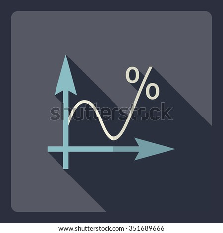 Flat modern design with shadow  Icon graf - stock vector