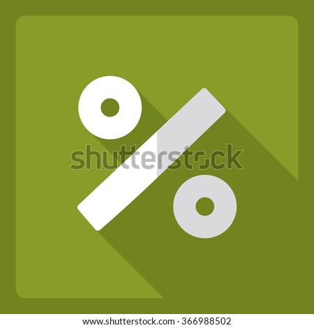 Flat modern design with shadow  Icon percent - stock vector