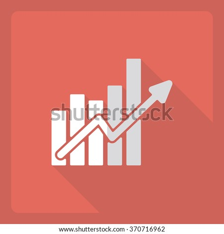 Flat modern design with shadow  Icon schedule increase - stock vector
