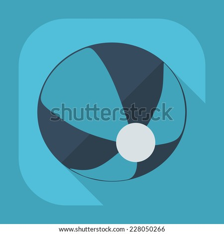 Flat modern design with shadow icons for web design and mobile applications, SEO. search Working Optimization: inflatable ball - stock vector