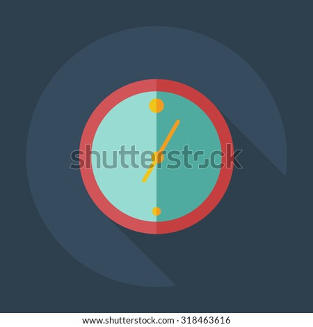 Flat modern design with shadow icons Wall clock