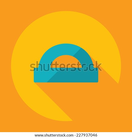 Flat modern design with shadow, SEO. Icons mobile applications and web design. Working optimization:  protractor - stock vector