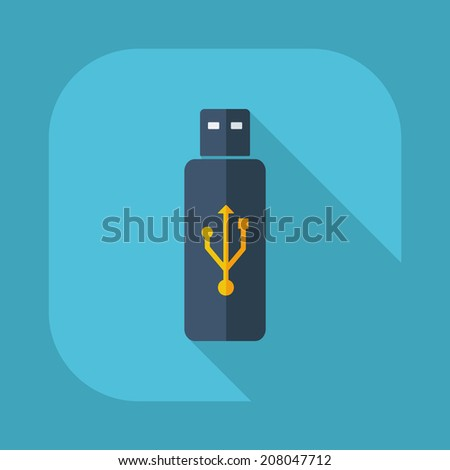 Flat modern design with shadow vector icons :USB