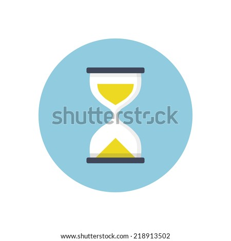 Flat modern vector icon: sand clock. - stock vector