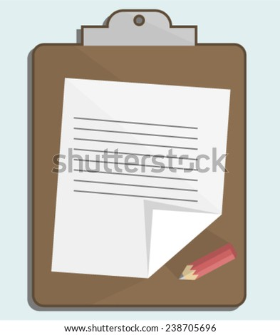 Flat Notepad Icon - stock vector