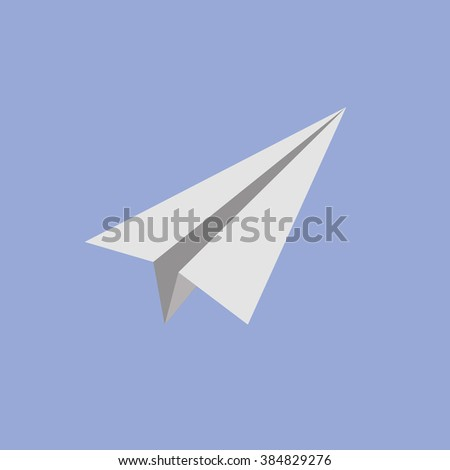 Flat paper plane, concept for project startup