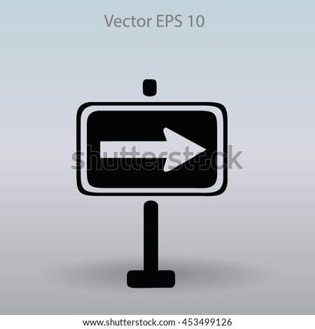 Flat pointer icon - stock vector