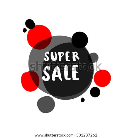 Flat red and black circle design big sale stickers. Vector illustrations for online shopping, product promotions, website and mobile website badges, ads, print material.