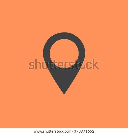 Flat simple marker with map vector icon template design colorful. - stock vector