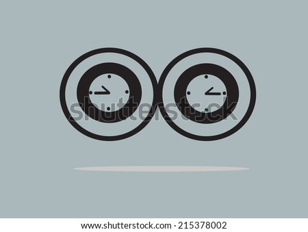 Flat Simple Time Infinity Symbol Vector Stock Vector 215378002