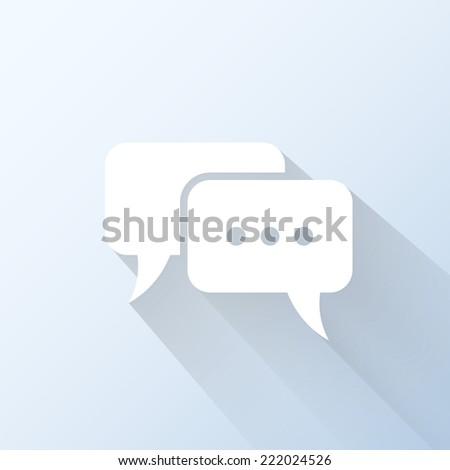 Flat speech bubble icon. Vector illustration - stock vector