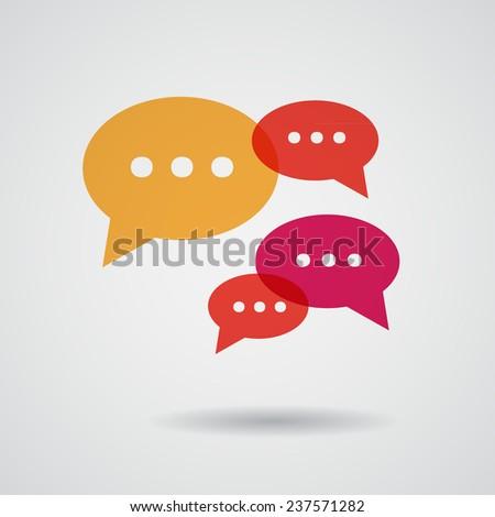 Flat speech bubbles set. Vector illustration - stock vector