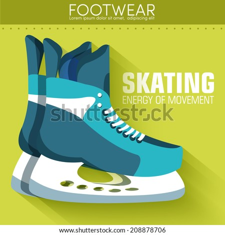 Flat sport skating background concept. Vector illustration design - stock vector
