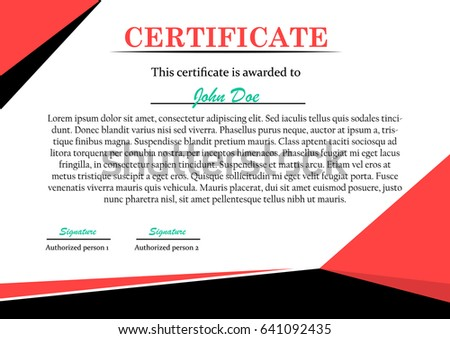 Flat style certificate card template black stock vector 641092435 flat style certificate card template in black and red color yelopaper Images
