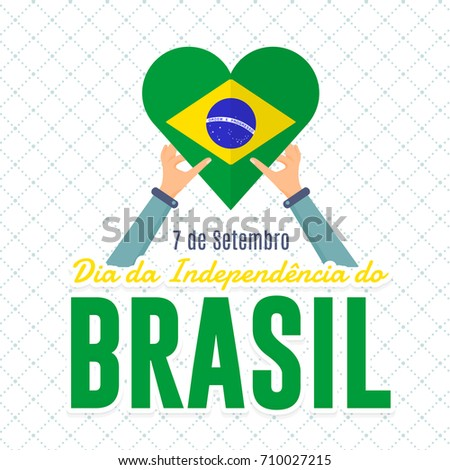 Flat style national greeting card design stock photo photo vector flat style national greeting card design portuguese text brazil september 7 independence m4hsunfo
