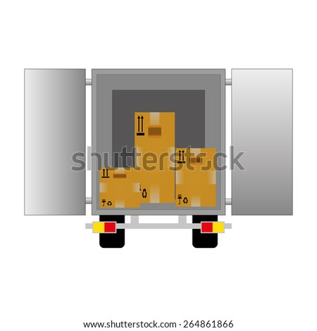 Flat style vector illustration delivery service concept.  - stock vector