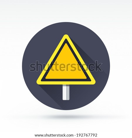 Flat style with long shadows, road sign vector icon illustration. - stock vector