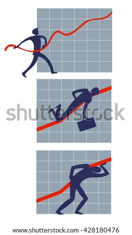 flat symbolic image of people who have dedicated their life 