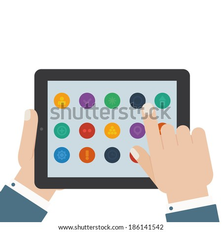 flat tablet app touch