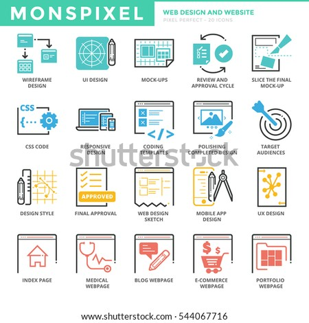 Set modern vector office thin line stock vector 364883927 shutterstock flat thin line icons set of web design and websites pixel perfect icons simple altavistaventures Images