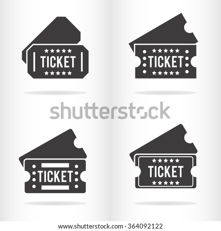 Flat ticket icon. Vector illustration - stock vector
