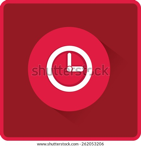 Flat time clock vector icon - stock vector