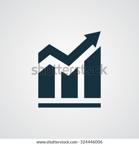 Flat Trend icon - stock vector