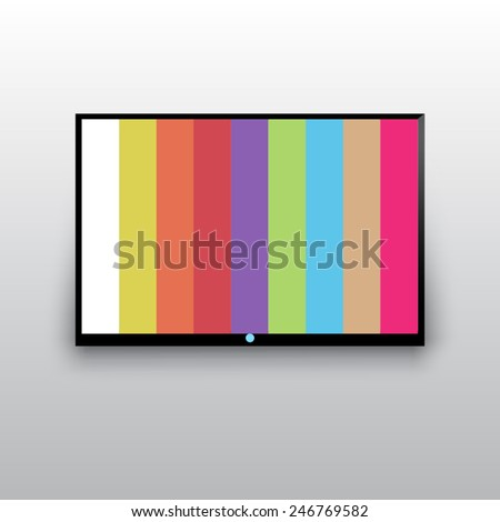 flat tv icon - stock vector