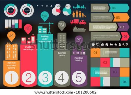 Flat Ui Design Eco City Infographic Stock Vector 181280582 ...