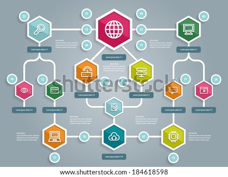 Flat UI Design Social Network Mapping Stock Vector Royalty Free - What is network mapping