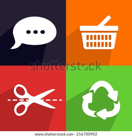 Flat vector elements for your design - stock vector