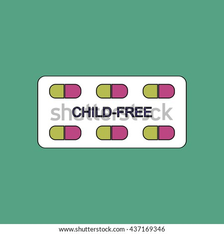 flat vector icon design collection birth control pills