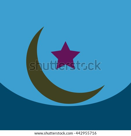 flat vector icon design collection  ramadan festival