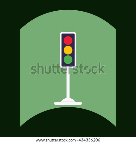 flat vector icon design collection traffic light