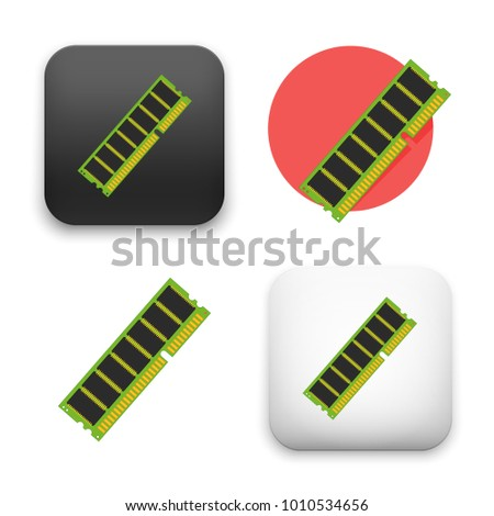 flat Vector icon - illustration of computer memory icon