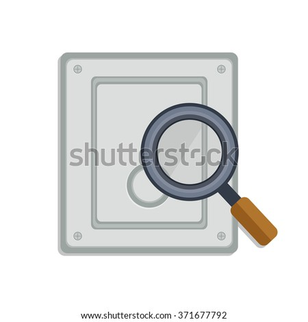 flat Vector icon - illustration of drive Search icon isolated on white - stock vector
