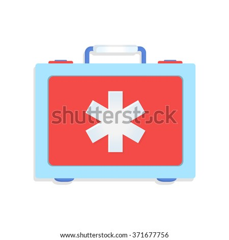 flat Vector icon - illustration of first aid icon isolated on white - stock vector