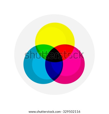 flat Vector icon - illustration of RGB colors icon isolated on white
