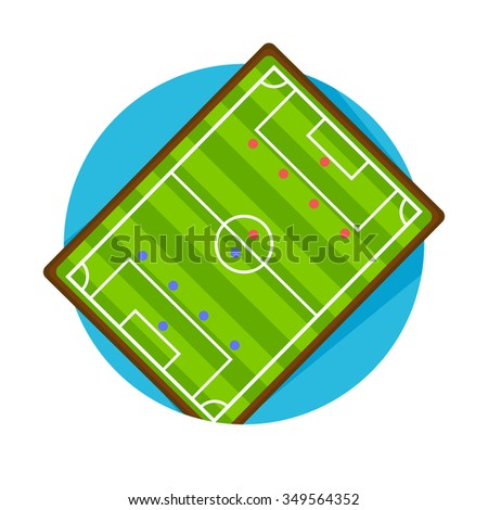 flat Vector icon - illustration of Soccer field icon isolated on white