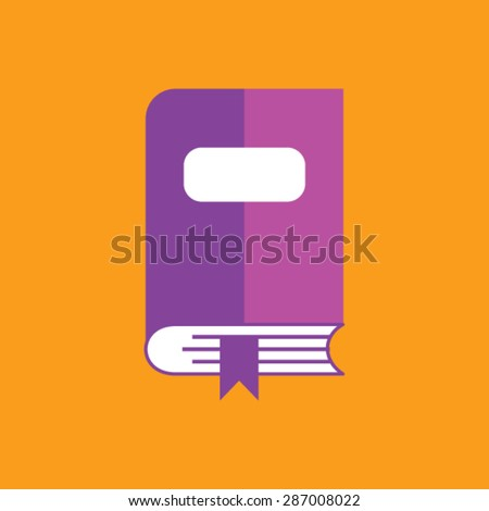 Flat vector icon of Book for Mobile & Computer - stock vector