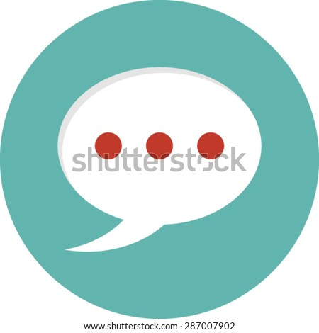 Flat vector icon of Comments for Mobile & Computer - stock vector