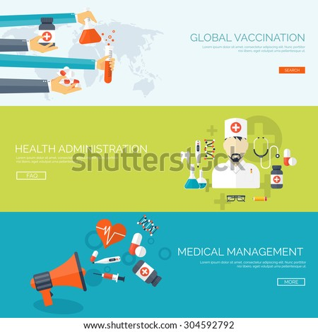 Flat vector illustration. Medical background. Healthcare and first aid. Cardiology, pharmacy. Heart care. Doctor, hospital. - stock vector