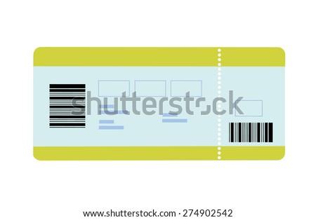 Flat vector Illustration of boarding pass - stock vector