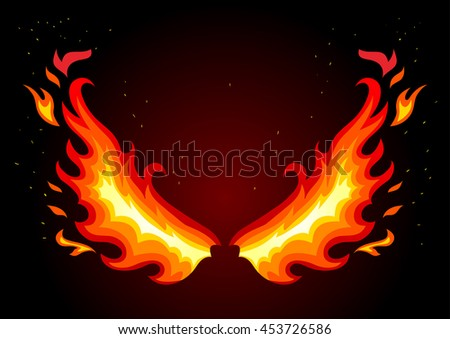 Fire Wings Vector | www.pixshark.com - Images Galleries ...