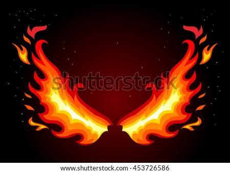Fire Wings Vector | www.pixshark.com - Images Galleries ...