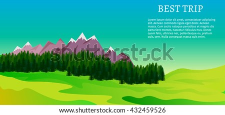 Flat vector illustration stock camping set objects