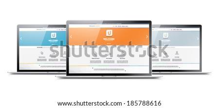 Flat web development design vector coding concept - stock vector